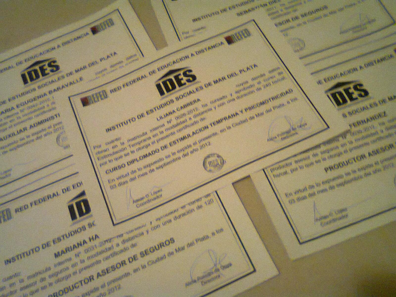 diplomas IDES